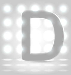 D over lighted background vector