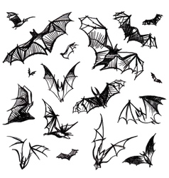 Set of isolated bats vector