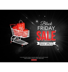 Black friday sale shining background with vector