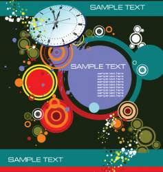 Grunge background with clock image vector