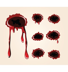 Bullet wound collection vector
