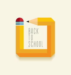 Back to school creative design vector