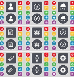 Avatar flash cloud file marijuana arrow right clip vector