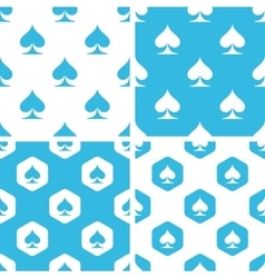 Spades patterns set vector