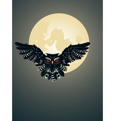 Owl and full moon vector