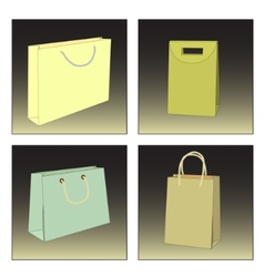 Several shopping bags vector