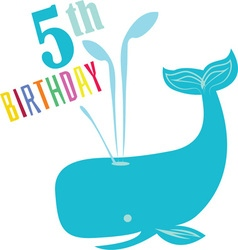 5th birthday vector