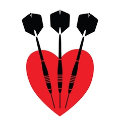 Love darts vector
