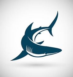 Shark sign rotate vector
