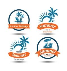 Summer label 2 vector