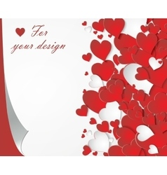 card with red hearts vector image
