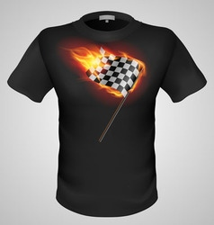 T shirts black fire print man 15 vector