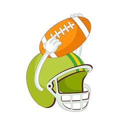 A helmet of rugby vector image
