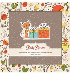 Birthday announcement card vector