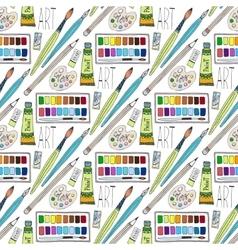 cartoon doodles hand drawn art supplies vector image