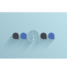 creative flat ui icon on blue background vector image vector image