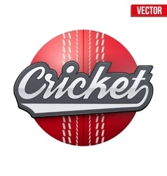 Cricket sport label vector