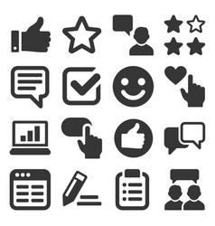 customer reviews and feedback icon set vector image vector image