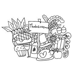 Doodle art of thanksgiving vector