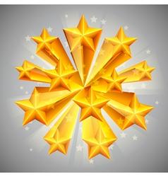 Golden stars vector image vector image