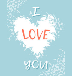 greeting card for st valentine s day i miss you vector image