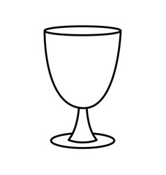 Holy chalice isolated vector