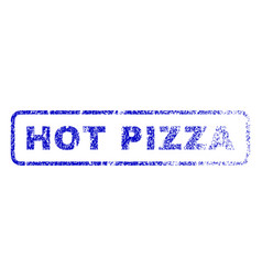 hot pizza rubber stamp vector image