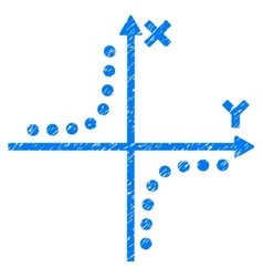Hyperbola plot grainy texture icon vector