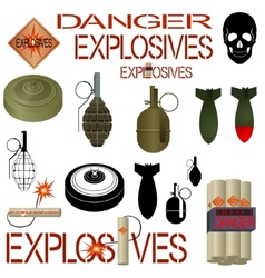 Military and industrial explosives vector