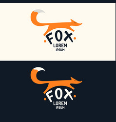 modern fox logo and emblem vector image