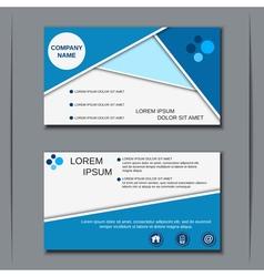 Modern visiting card design vector