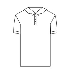 monochrome silhouette of polo shirt short sleeve vector image vector image