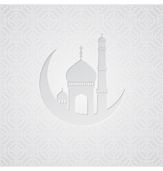Ramadan greetings card background vector image vector image
