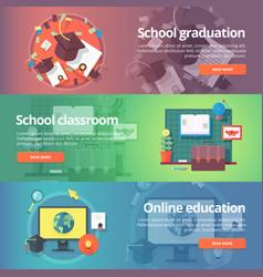 School graduation cap and gown school classroom vector