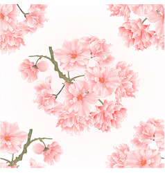 Seamless texture twig tree sakura blossoms vector