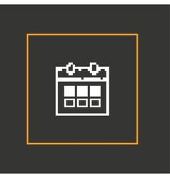 Simple stylish pixel icon calendar design vector image