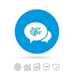 Speech bubble special offer icon sale symbol vector