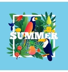 Summer tropical frame vector
