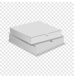 Two pizza boxes icon realistic style vector