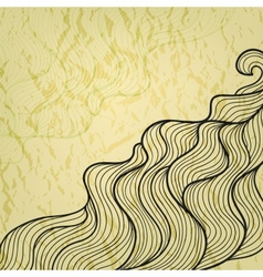 Vintage abstract doodle background vector