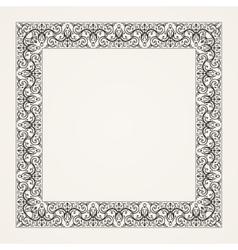 Vintage baroque floral frame vector image vector image