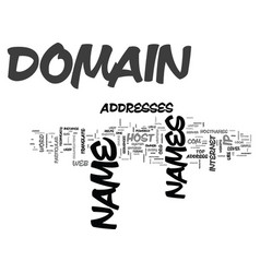 What is a domain name text word cloud concept vector