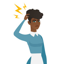 Young african cleaner with lightning over head vector