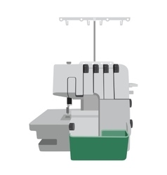 Flat sewing machine ion white background vector