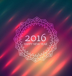Happy new year design in ornamental frame vector