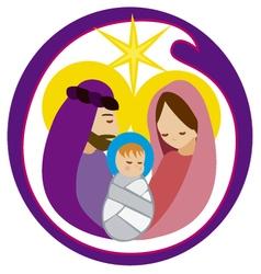 Baby jesus in a manger 12 vector