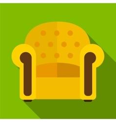 Armchair flat icon vector