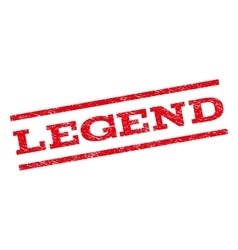 Legend watermark stamp vector