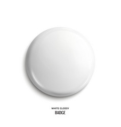 blank white glossy badge vector image