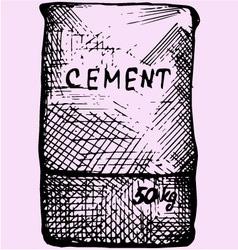 Cement bag paper sacks vector image